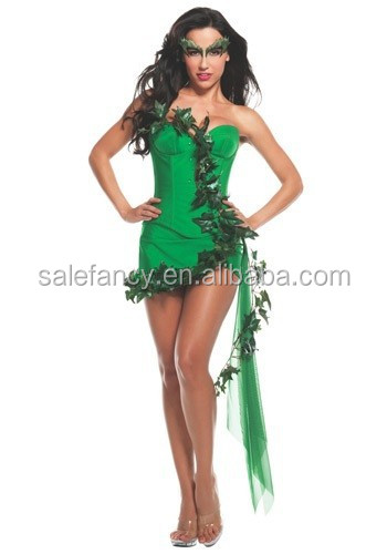 women poison ivy costume adult fancy dresses for girls carnival costume QAWC-2689