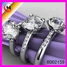 BEST SELLERS ASIAN JEWELRY TURKISH SILVER RING IMITATION DIAMOND WEDDING RING SETS