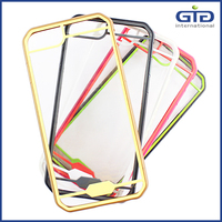 [NP-2507] Colorful Transparent Cases with Smart Sensitive Tempered Glass Back Cover for iPhone 6