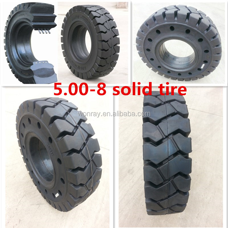 TOYOTA parts new solid forklift tyre 500-8 from China used in electronics factory