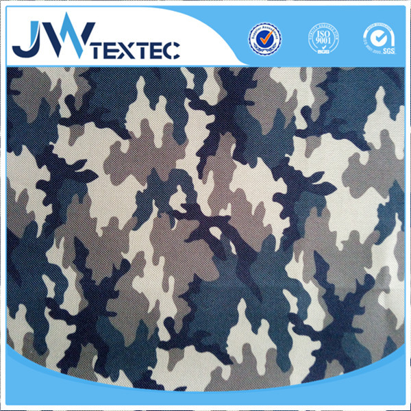 Woodland camouflage printed oxford fabric