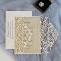 2018 New design Laser Cut Wedding Invitations