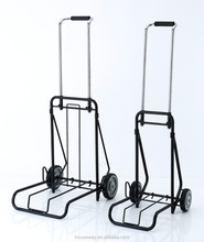 LARGE SIZE CAPACITY: 250LBS STEEL FOLDING LUGGAGE CARRYING TROLLEY PUSH CART