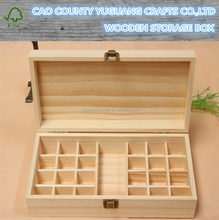 New design custom handmad essential oil packaging wood boxes