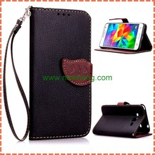 Unique Leaf buckle Wallet Flip Leather Case For Samsung Galaxy Grand Prime G530