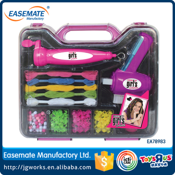 Electrical diy hair beader set toy for children