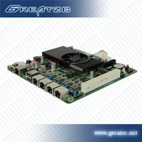 ZC-M254L MINI ITX Motherboard Onboard CPU Intel Atom D2550 Motherboard 4*RTL8111E Network Card,1*COM,1*PCI,1*MINI SATA Mainboard