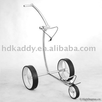 2014 classic wave design Stainless Steel push golf trolley