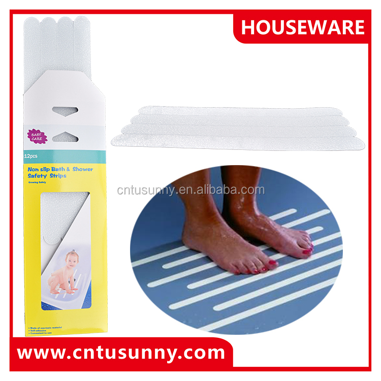 durable hot sale self adhesive Anti- slip bath tub treads for bathroom and stair