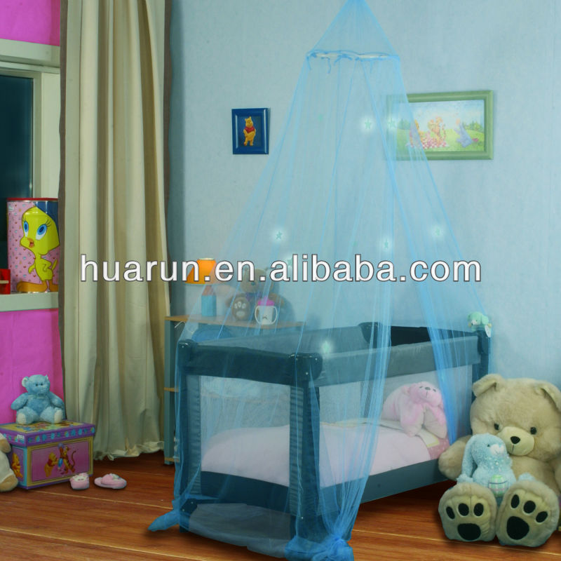 glowing star kids or baby crib bed canopy