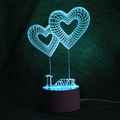 2018 hot 3D lights Heart shape 3d baby night light sleeping lighting