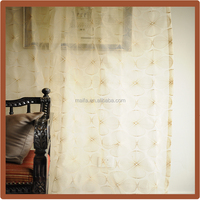 Hot Sale! Embroidered Organza Window Curtain sheer