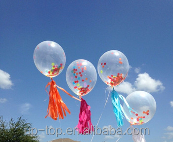 ~New Arrival~Clear Balloon+Confetti+Paper Tassels For Christmas Decor