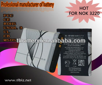 for Nokia 3220 BL-5B battery