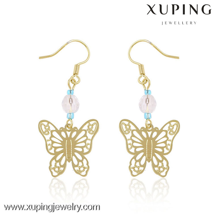 My style animal unique design, newest style butterfly earrings jewelry