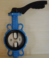 Wafer end Type 150LB CF8 Disc Butterfly Valves without pin