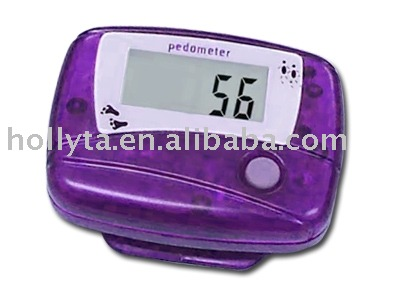 Step counter for electronic gifts