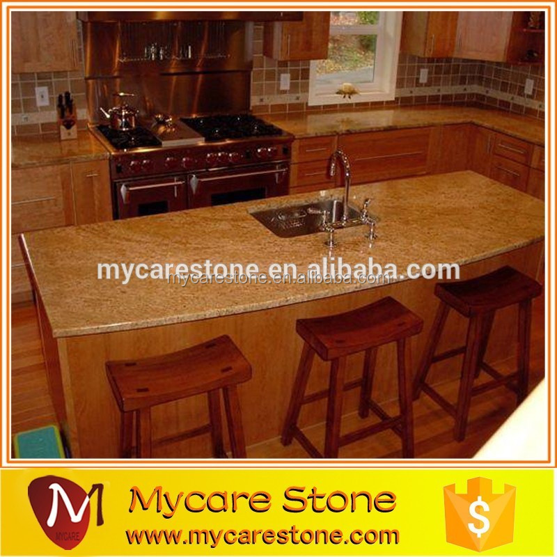 Luxury imperial gold slab kitchen granite countertop for decoration