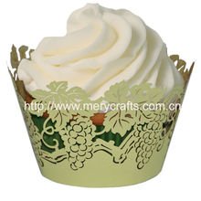 "300 pieces/lot 250g Pearl Paper Birthday Souvenirs ! ""Grapes"" Cupcake Wrapper From Mery Crafts"