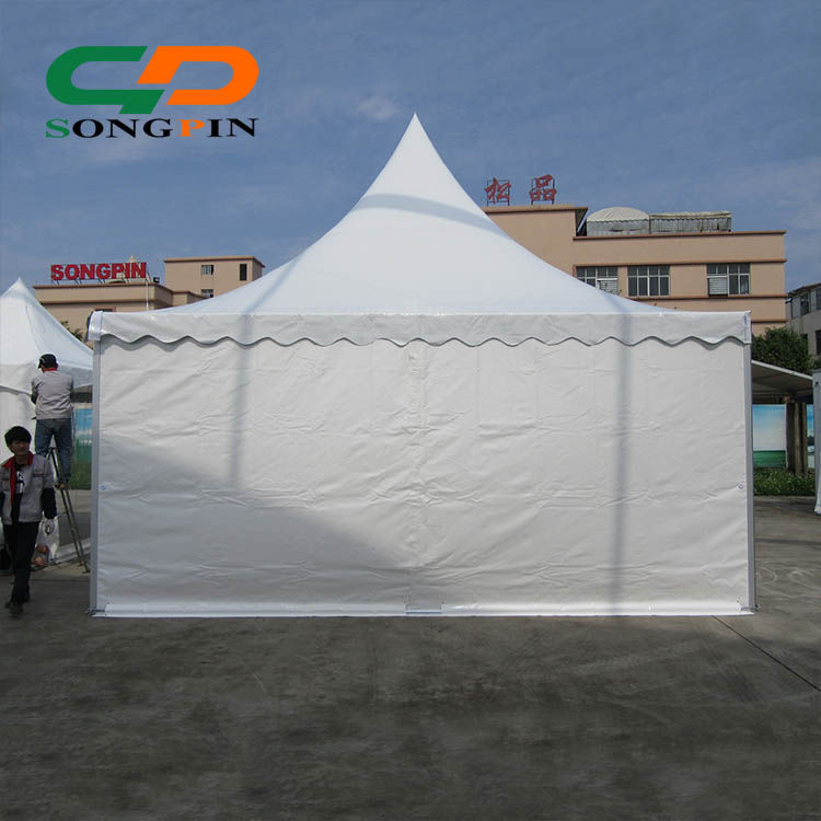 6x6 aluminum structure roof top pagoda gazebo pyramid tent