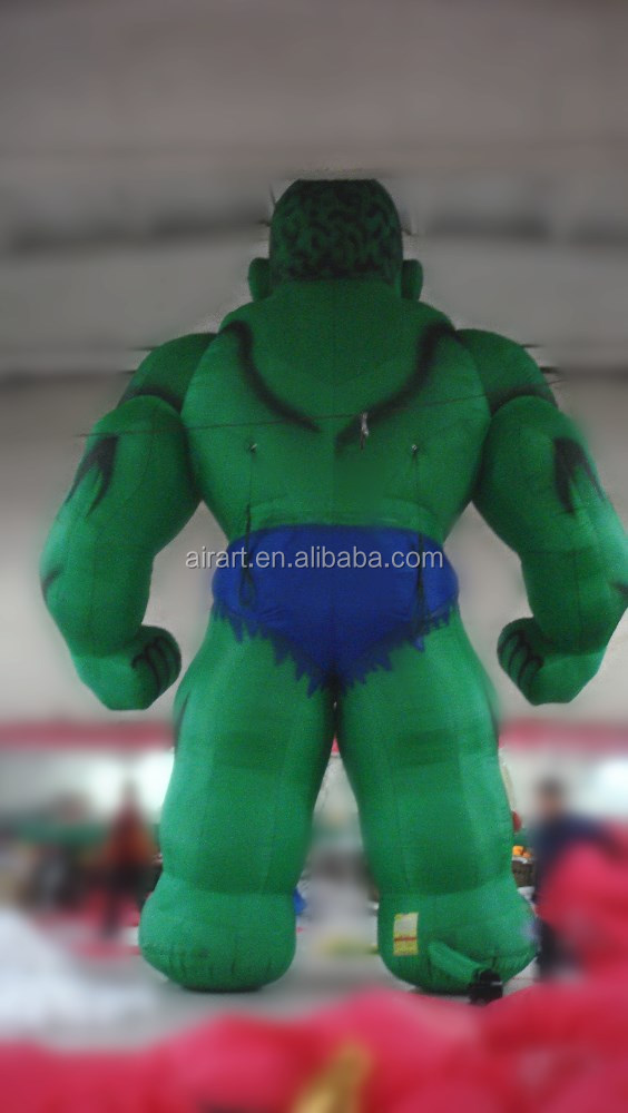 giant Comic-Con International inflatable green hulk character