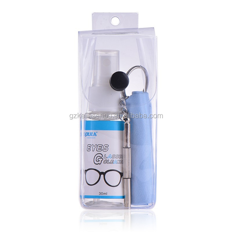 eyeglass care cleaning repair kit with lens cleaner