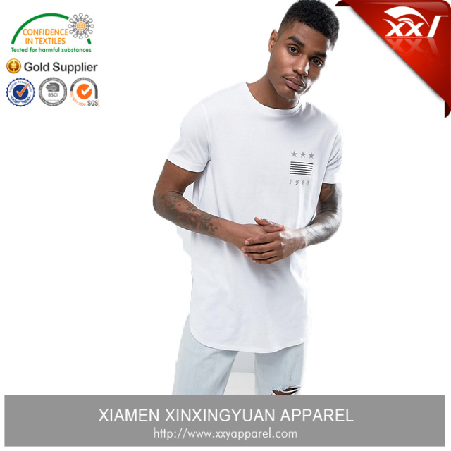 summer clothing print quality t-shirt super longline mens curved hem t shirt for men online shopping india