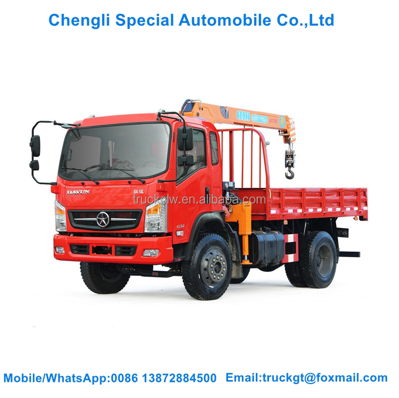 Boom Truck With Crane New mini 3 Ton Crane Truck For Sale