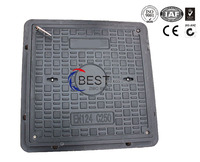 EN124 fiberglass resin square Manhole Covers septic tank