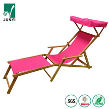 Reclining Sun Beach Deck Lounge Chair Wood Outdoor Folding Camping Fishing Arm Rest Chairs