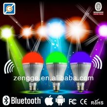 2013 new innovative products,led bulb e12 9w dimmable with bluetooth Remote