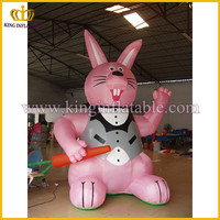 Chinese supplier inflatable rabbit model , inflatable bunny, inflatable animal
