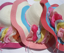 colorful lady fashion summer straw hats