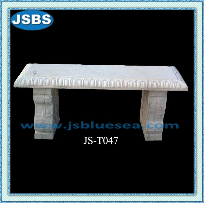 China Manufacture Handmade White Stone Patio Bench For Sale