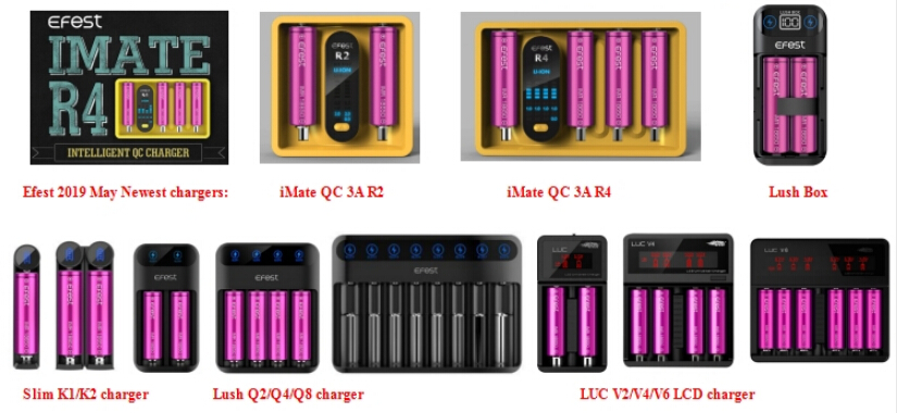 Long Cycle Lifes Batteries Holder 5000Mah 3.7V Li-Ion Rechargeable Efest 21700 Battery