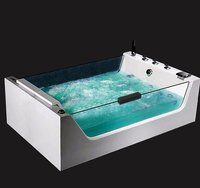 2017 Hot Sale Luxury Glass Whirlpool Massage Bath Ozone Bath With Movable Armrest For 2