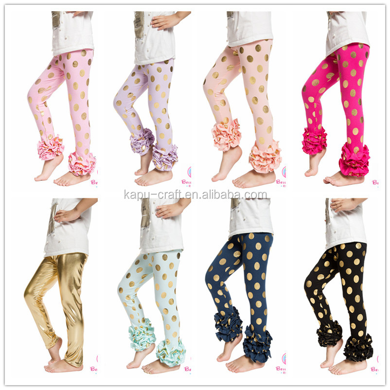 Fashin baby leggings,baby pants,triple ruffle pants