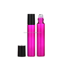 Mei red color 10ml roller bottles glass perfume vials