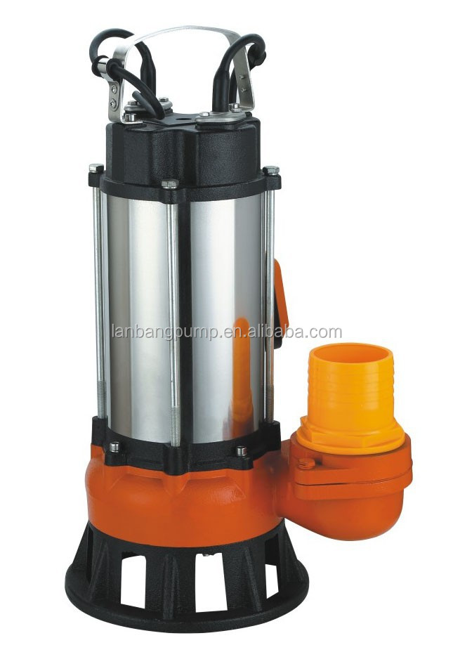 Submersible sewage pump for cutting waste paper and fiber