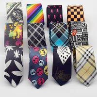 Promotional men gift fashion polyester party necktie Printed Colorful Children Necktie Boys Girls Students Funny Cravat Tie