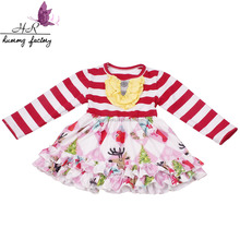 Baby clothes baby girls dresses wholesale children's boutique clothing Printed frilly dress