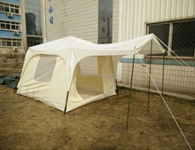 Military waterproof canvas dome pvc fly bow tent