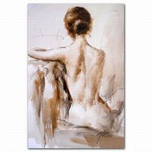 Modern abstract sexy nude back female body art canvas oil painting picture