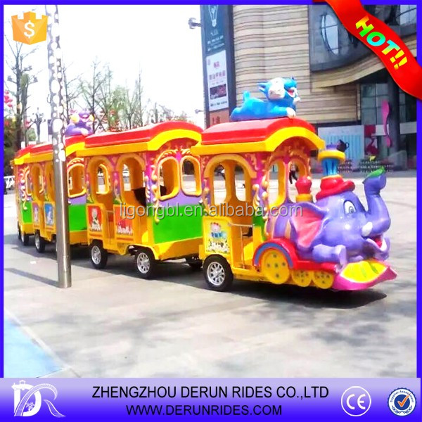 Amusement park Tourism Old Steam Electric trackless train for sale
