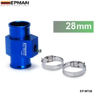 EPMAN Water Temperature Gauge Joint Pipe Radiator Hose Sensor Adaptor (28mm) Aluminum EP-WT28