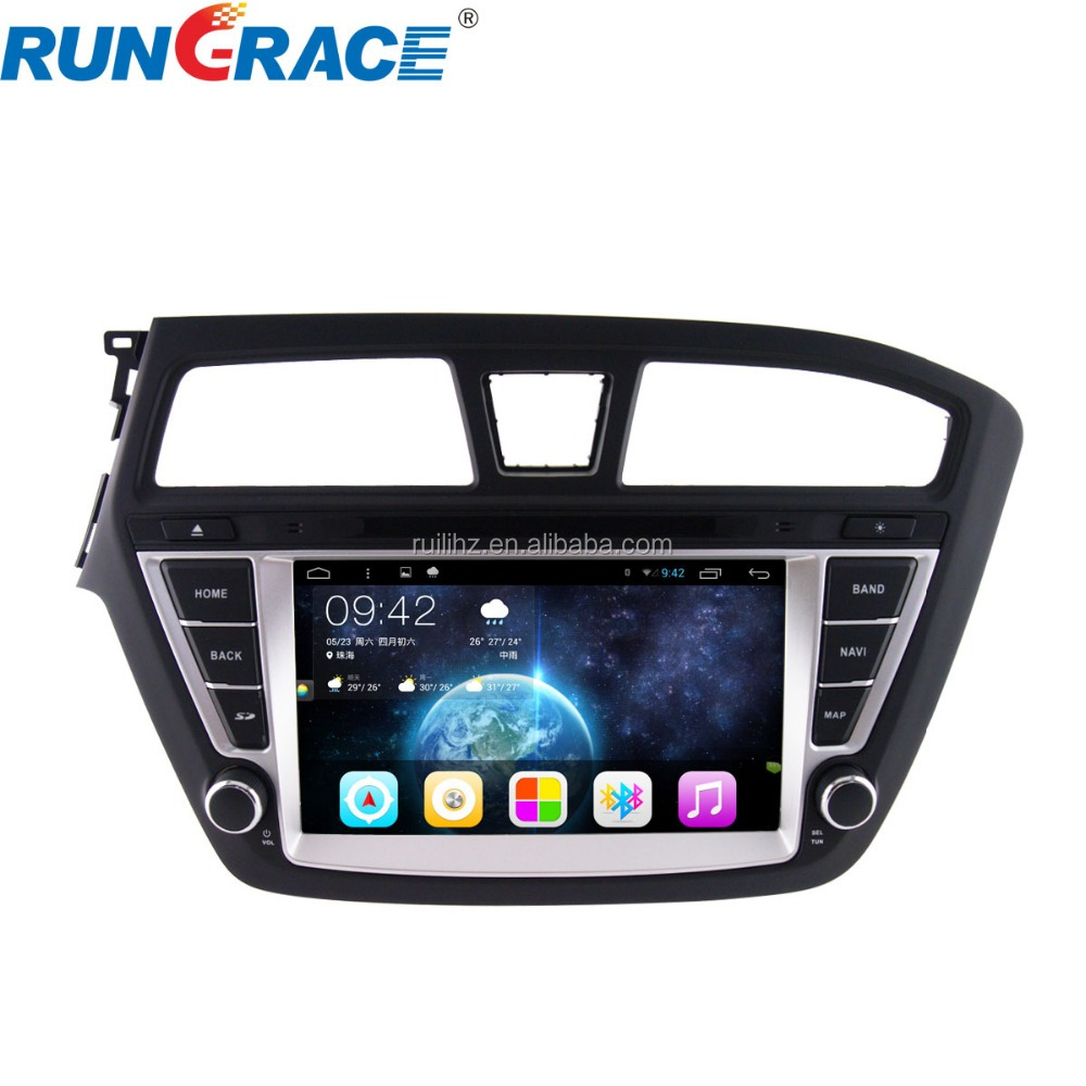 android 8inch navigation touch screen car radio gps for hyundai i20 car dvd