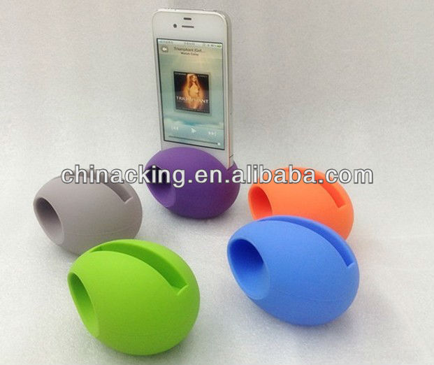 portable silicon egg shape wireless bluetooth speaker for iPhone 4 4s 5