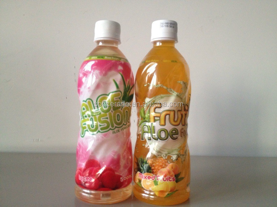 Different flavours low sugar aloe vera juice