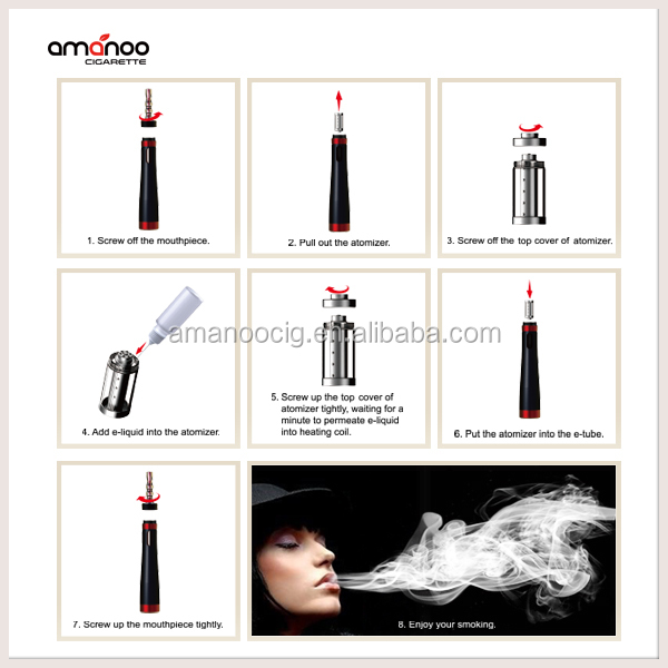 Newest e hookah huge vapor with high quality from Amanoo vaporizer shisha pen e cigarette free trial