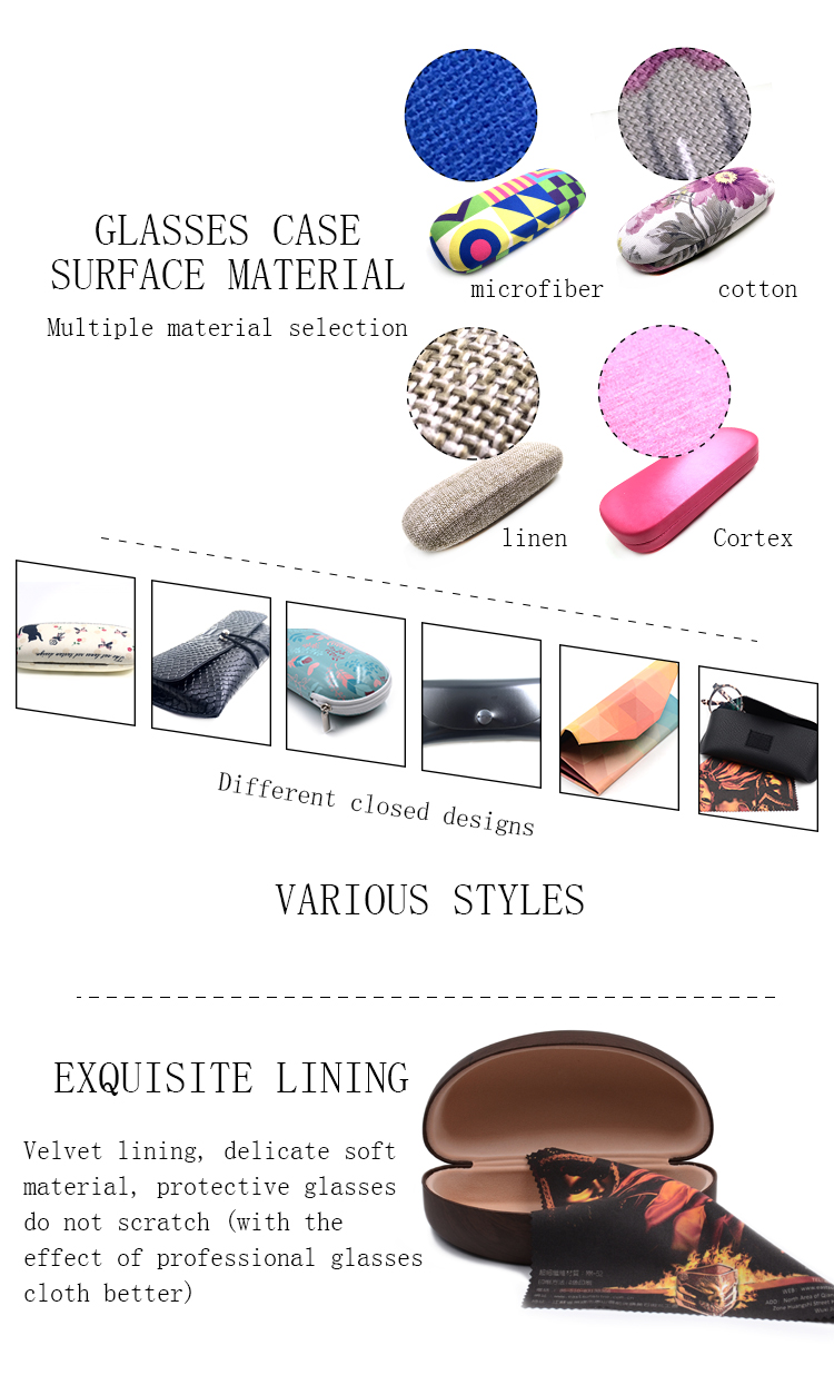 New product  wholesale easy open cool personalized eyeglass case